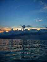 bahamas, north bimini, cloud, showers,