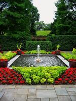 Square Fountain Garden