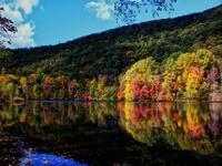 hamburg, pennsylvania, appalachian trail, new kernsville lake, fall,