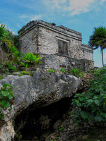 mexico, tulum, house of the cenote, cavity, water, quintana- roo,