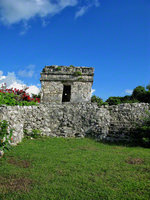 mexico, tulum, watchtower, buildings, quintana- roo,