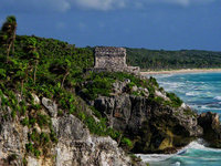 mexico, tulum, temple of the wind, air, circular, quintana- roo,