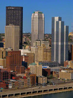 pennsylvania, pittsburgh, skyline, architecture, old, new, buildings,