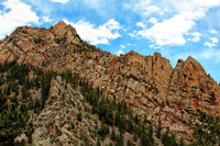 colorado, eldorado canyon state park, rincon wall, shirt tail peak,