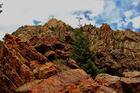 colorado, eldorado canyon state park, rincon, west ridge, hiking, cliffs,