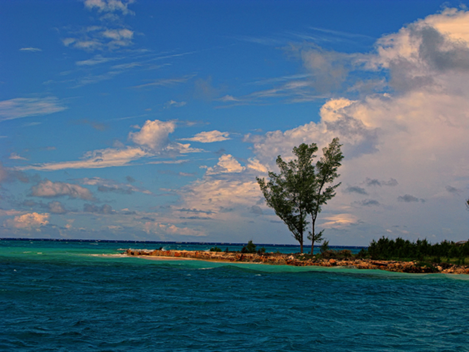 bahamas, north bimini, porgy bay, buccaneer point, blue, green,, photo