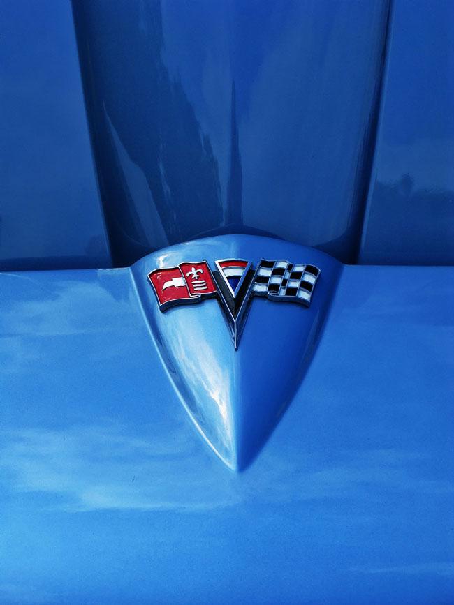 pennslyvania, carlisle, 1966, corvette, sting ray,  automobile, hood,, photo