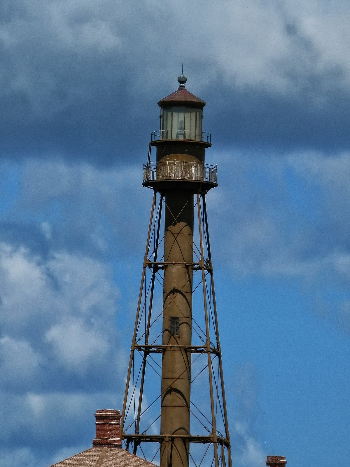 In 1884 the foundation was built for the 98 foot iron lighthouse.