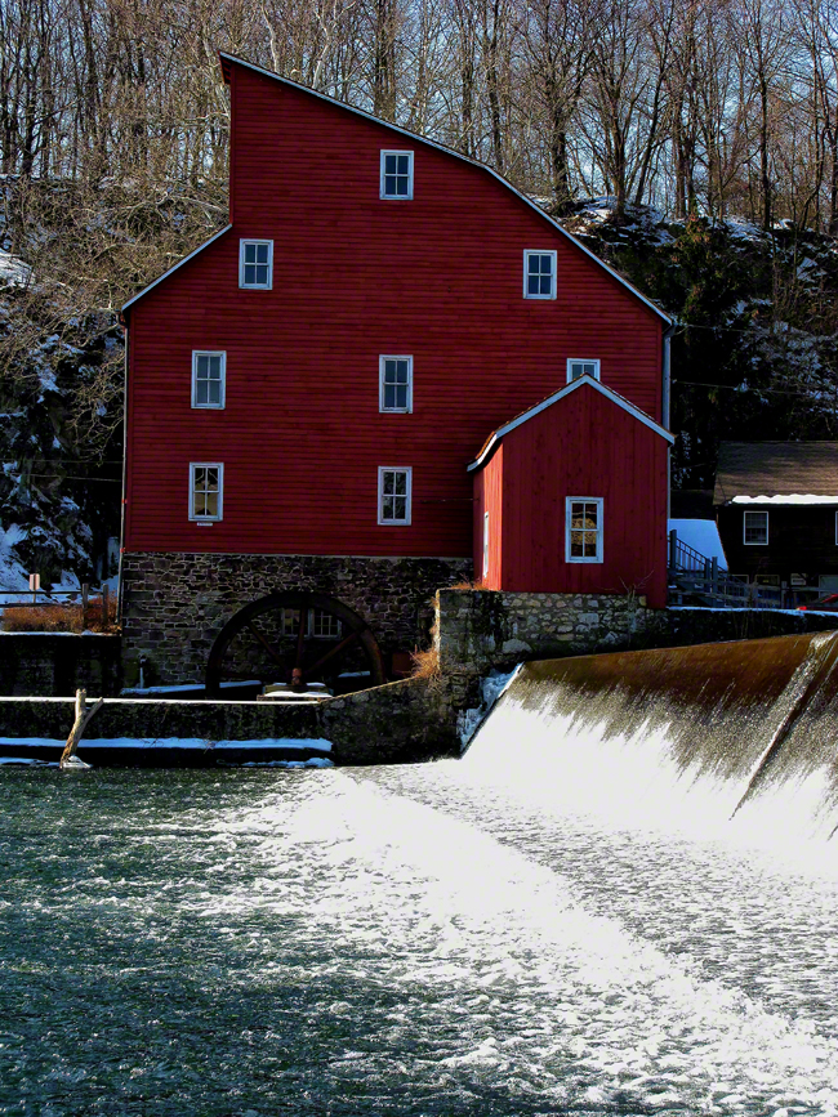 new jersey, clinton, mill, waters, frozen,, photo
