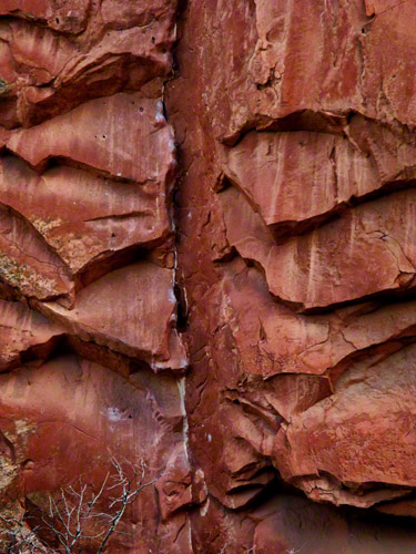 Red Rock formations were created during a geological upheavel along a natural fault line millions of years ago.