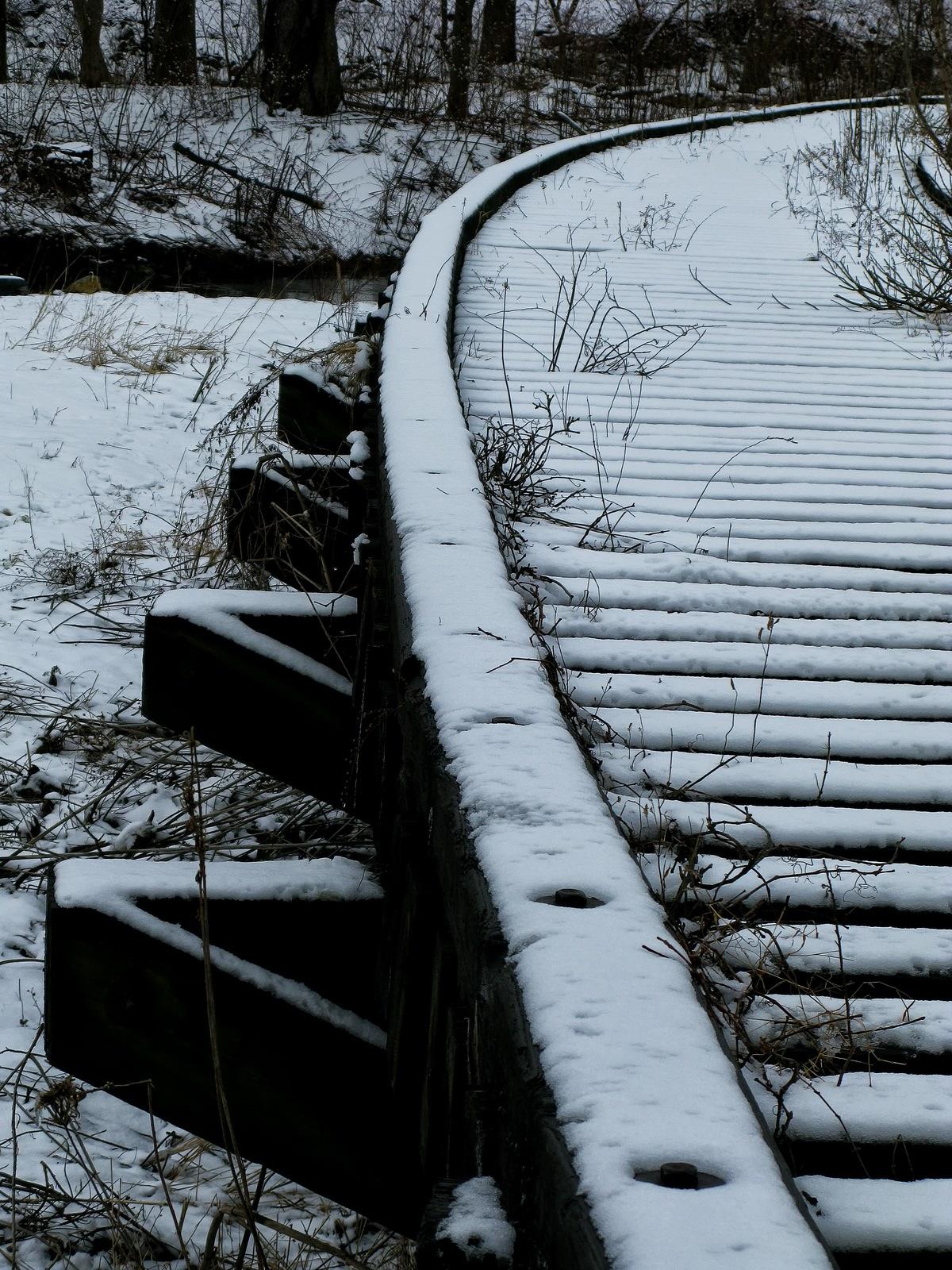 pennsylvania, allentown, winter, bridge, little lehigh river, the barber quarry railroad,, photo