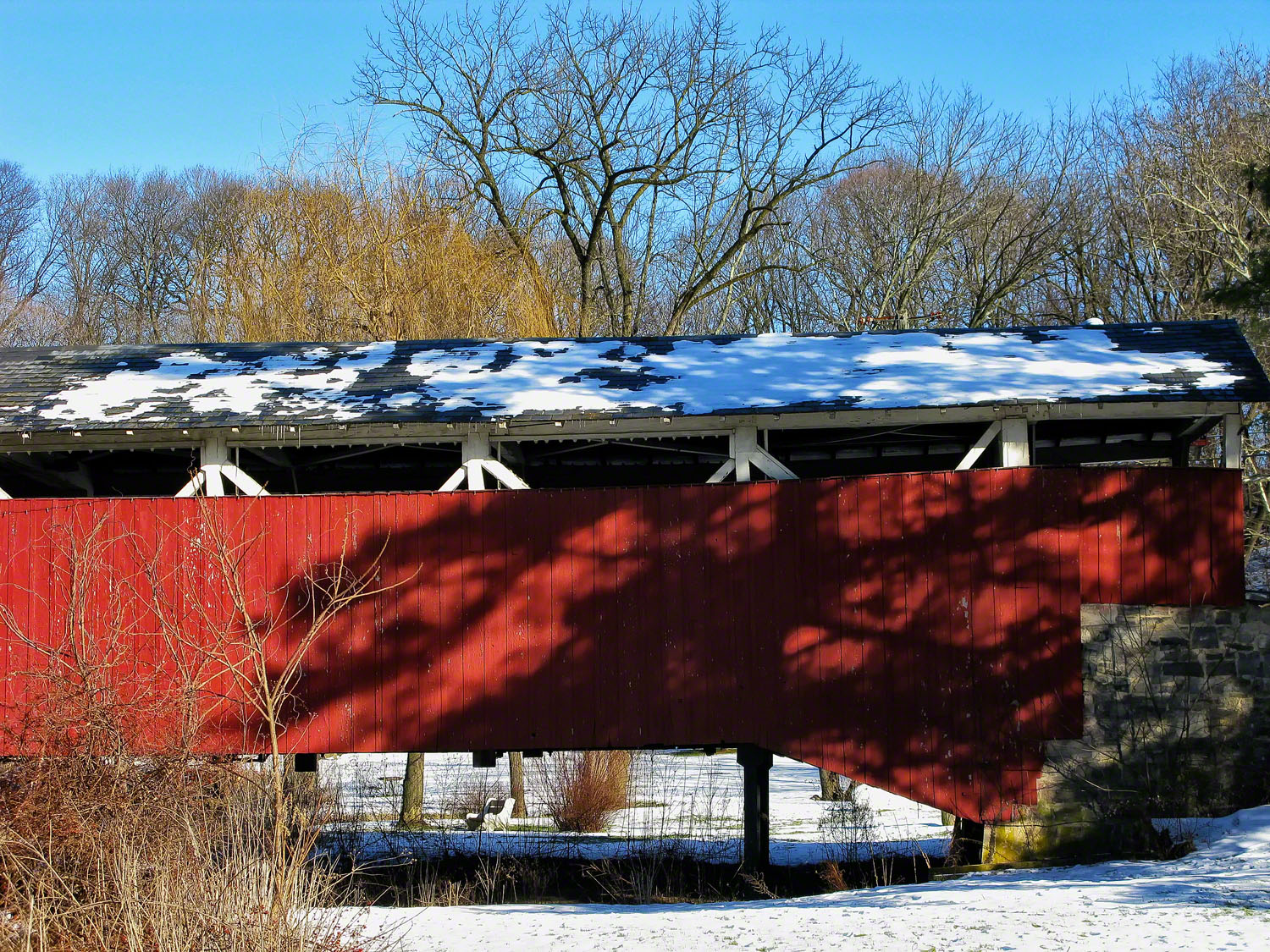 Bogerts Covered Bridge 1842 is the oldest in Lehigh County.