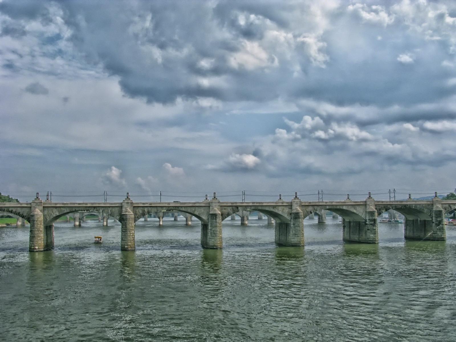harrisburg, pennsylvania, bridges, susquehanna river, capital,, photo
