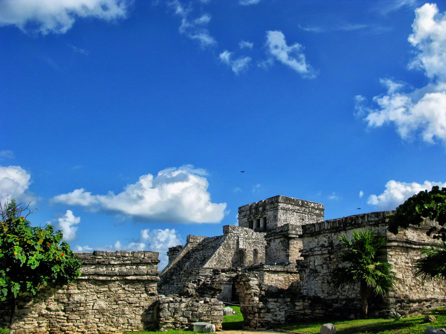 Several building stages created the Mayan Style Castle.