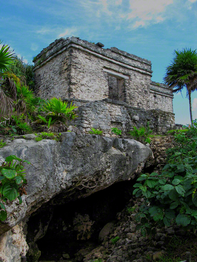 mexico, tulum, house of the cenote, cavity, water, quintana- roo,, photo