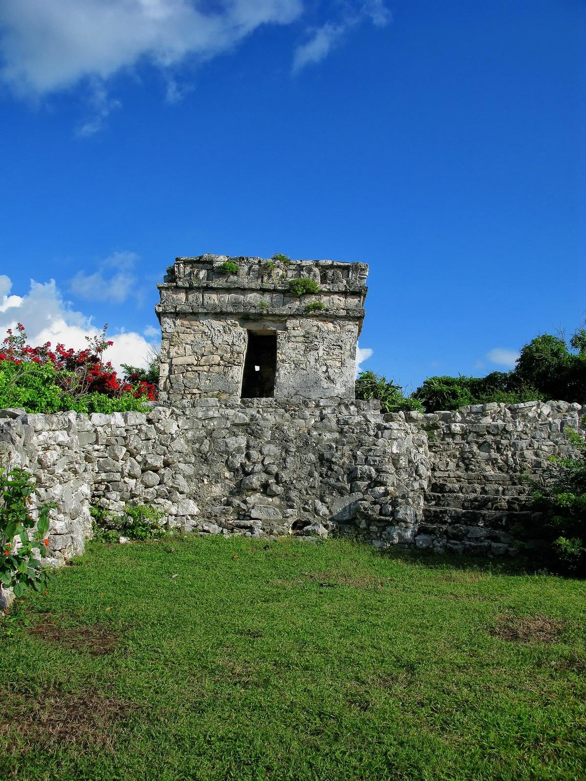 mexico, tulum, watchtower, buildings, quintana- roo, , photo
