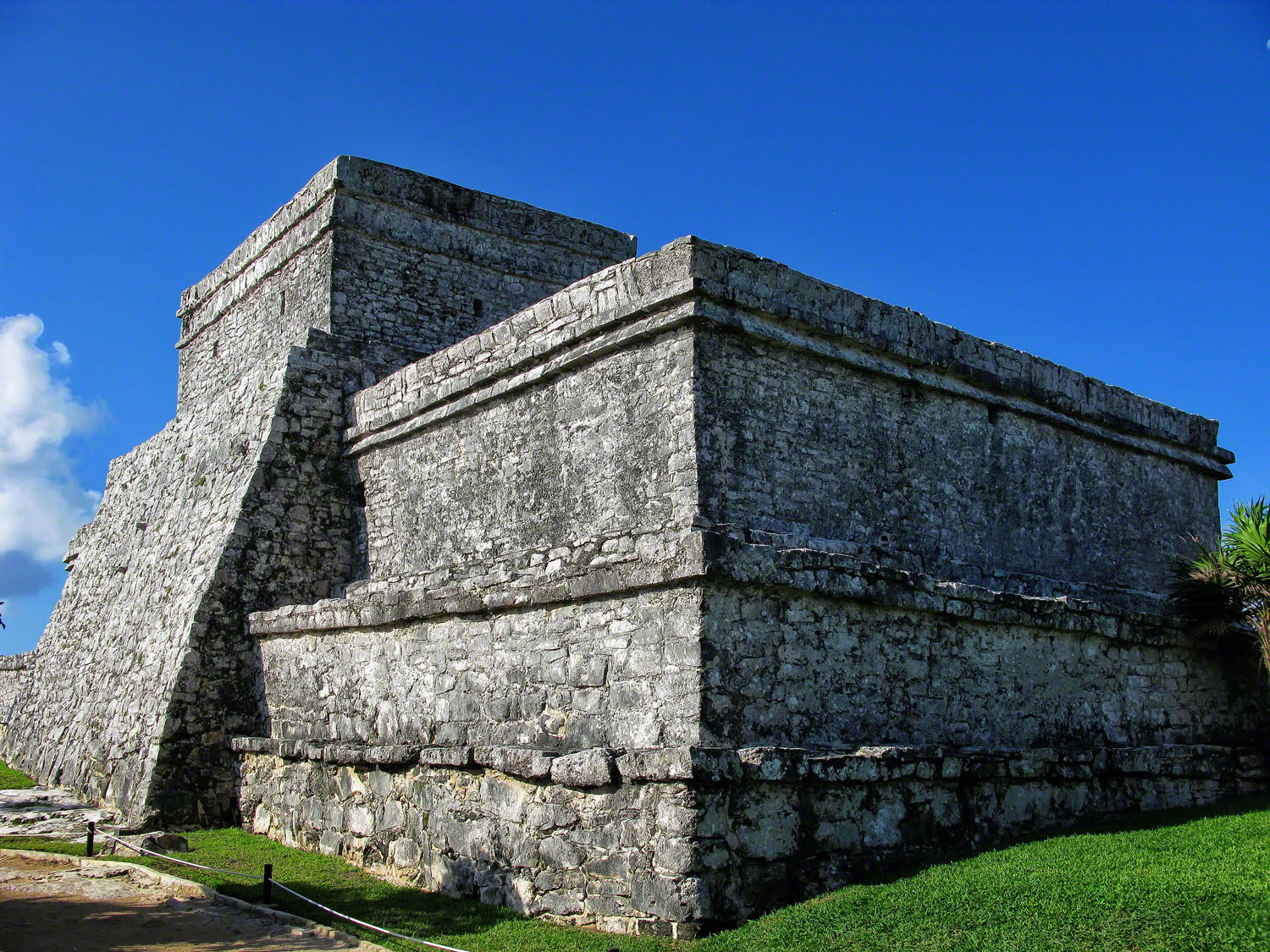 The Castle rises over 40 ft making it the most spectacular structure in Tulum.