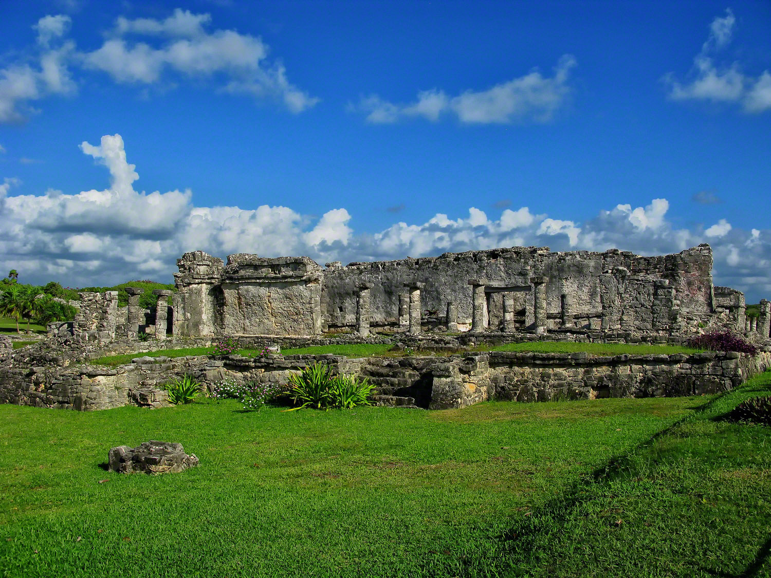 mexico, tulum, house of columns, the great palace, 1075, residence, quintana- roo,, photo