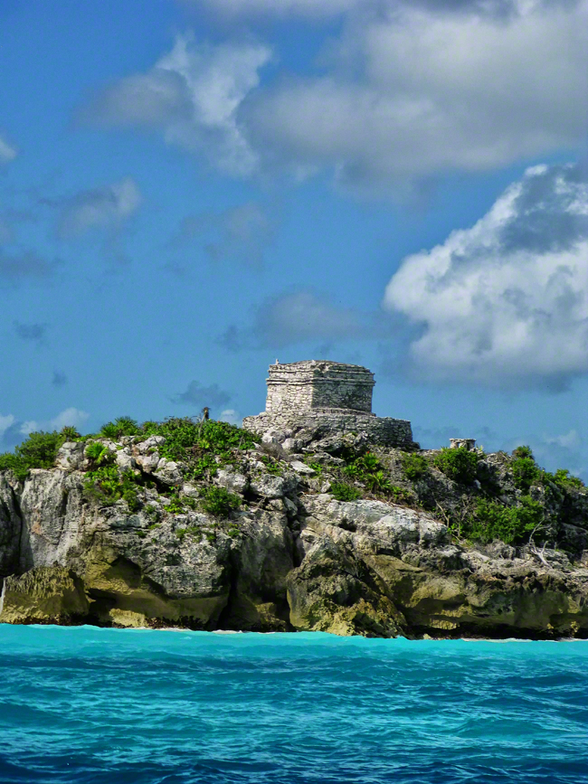 mexico, tulum, god of the wind temple, caribbean sea, quintana- roo, , photo