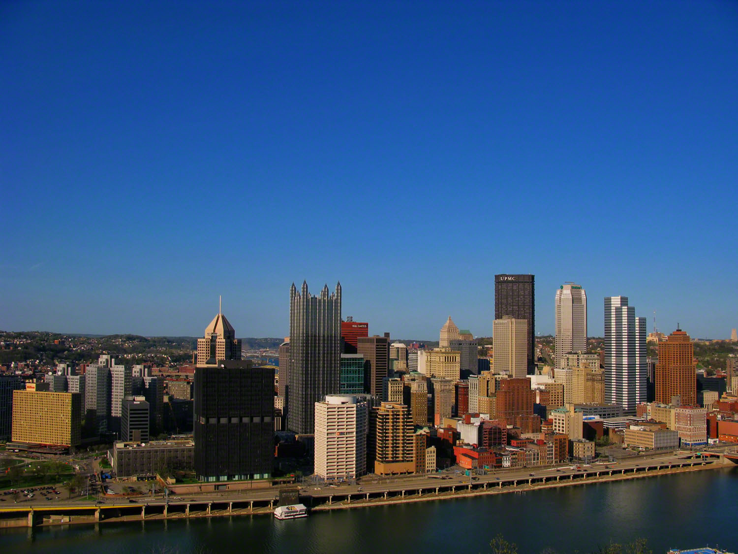 Arriving at the top of Mt Washington provides you with this great city view.