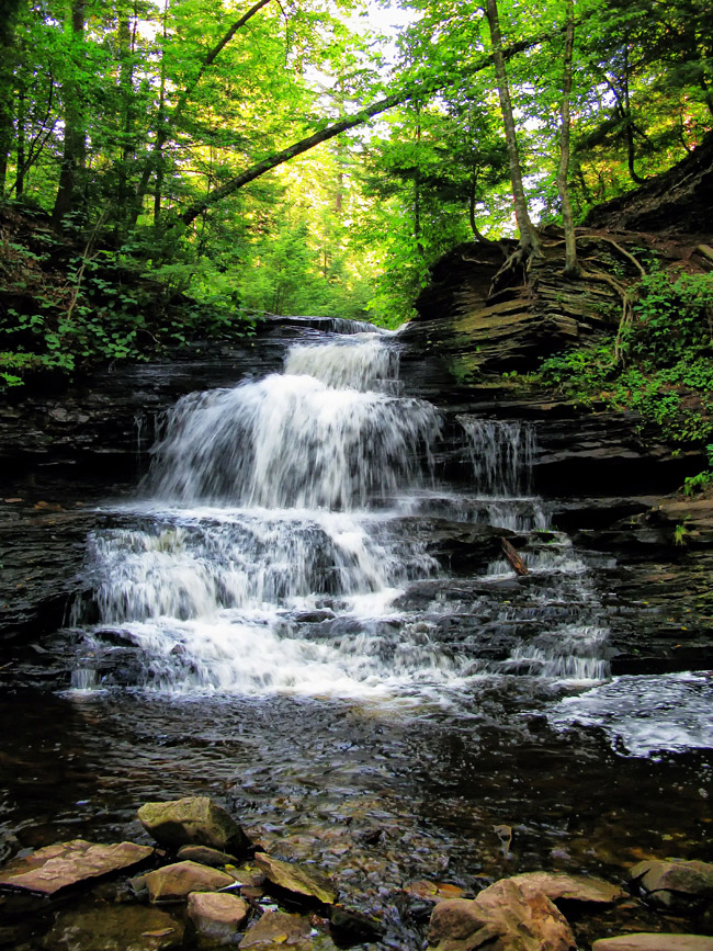 At just 15 feet, Onodaga is the smallest and last of the Glen Falls run.