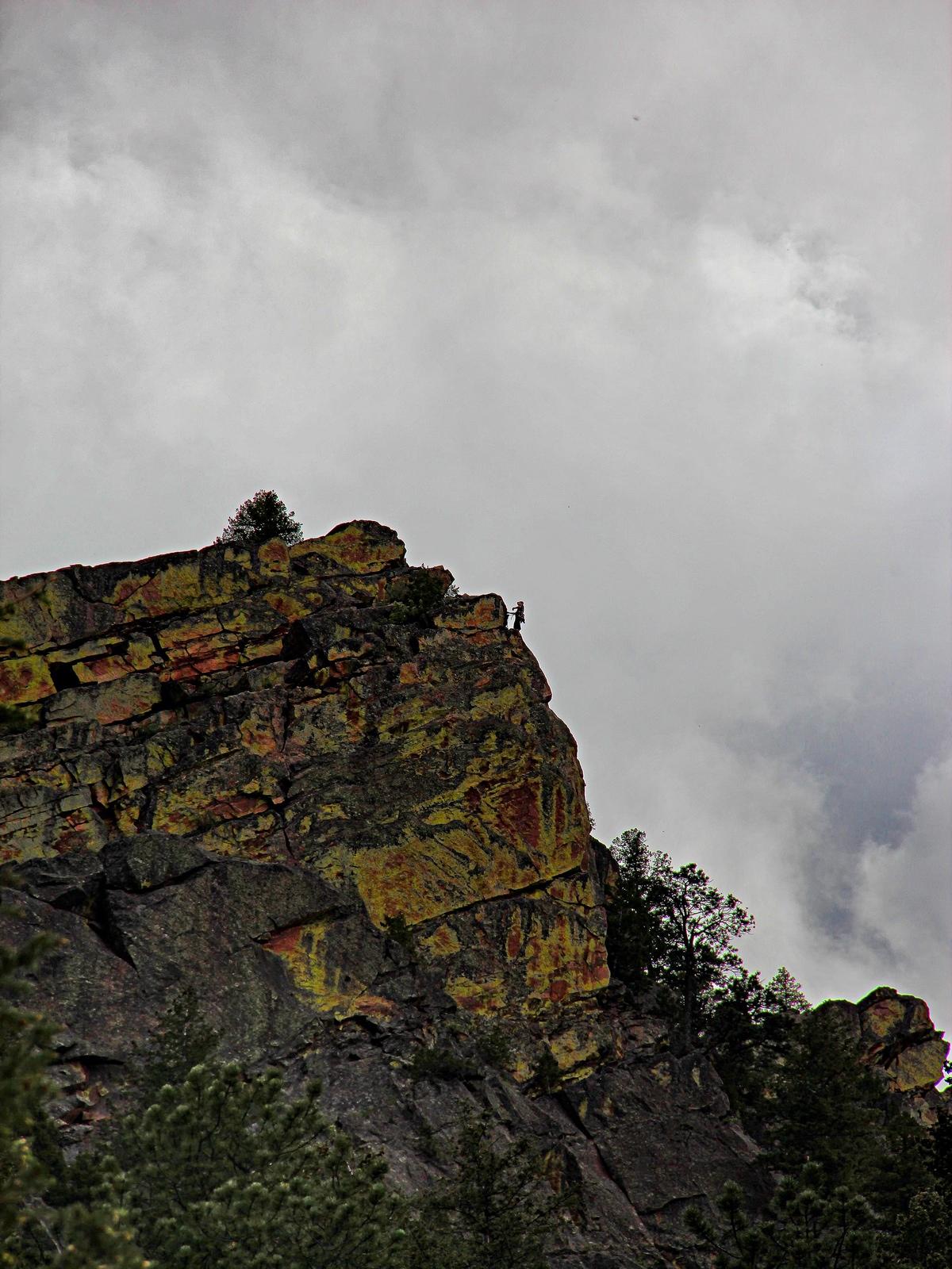 colorado, eldorado canyon state park, the bastille, climber, views, , photo