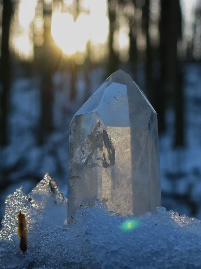 The picture reflects the image and energy of a friend named Leo, who passed over and left this crystal to friends.