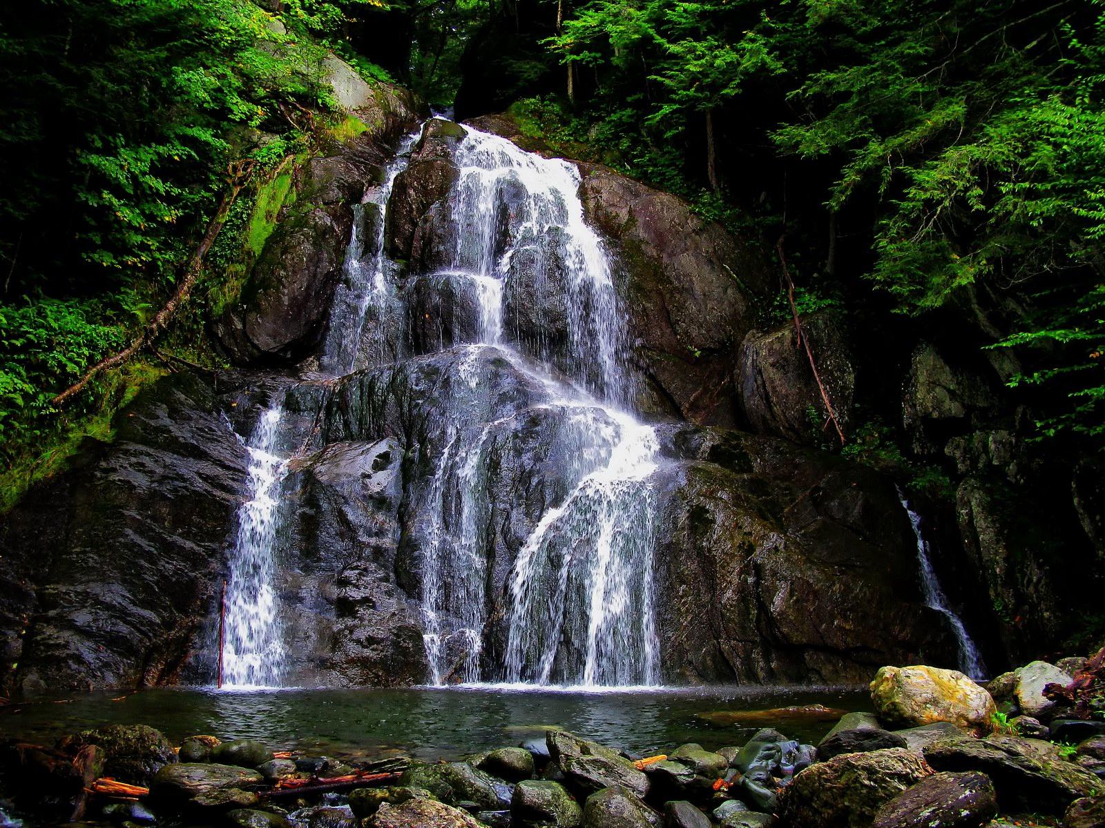 vermont, granville, forest, waterfall,   moss glen falls,, photo